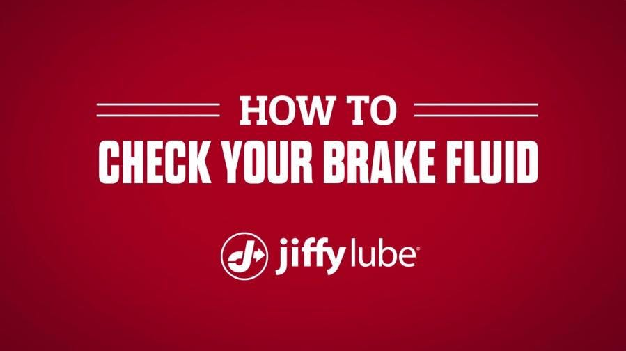 How to check your brake fluid with Jiffy Lube banner