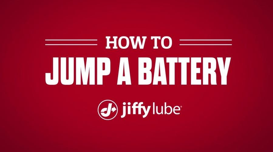 How to jump a car battery with Jiffy Lube banner