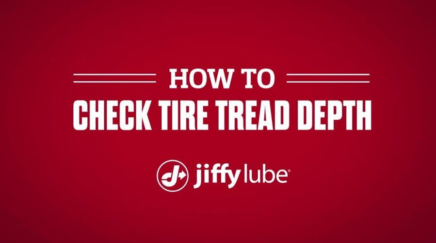 How to check tire tread depth with Jiffy Lube banner