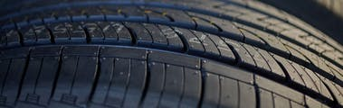 close-up of tire